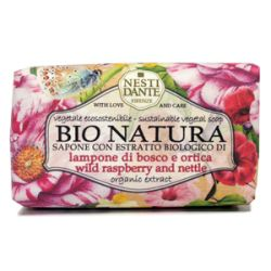 Мыло Малина и Крапива серия Бионатура Нести Данте, BIONATURA Wild raspberry and nettle Soap Nesti Dante, 250 гр.