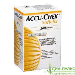 Ланцеты Акку-Чек Софткликс (Accu-Chek Softclix) 25 или 200 штук в упаковке