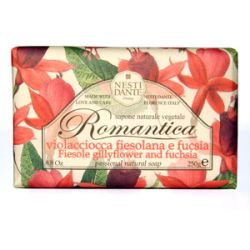 Мыло Фиезоле и Фуксия серия Романтика Нести Данте, ROMANTICA Fiesole gillyflower and Fuchsia Soap Nesti Dante, 250 гр.
